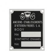 Factory ID Plates Emblems & Decals